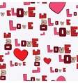 Valentines day hearts love seamless pattern vector