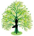 Tree yoga pose vector
