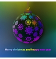 Christmas ball made from snowflakes  eps8 vector