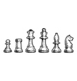 Drawing of chess vector