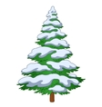 Furtree with snow vector