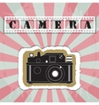 Retro camera in a scrapbook style vector