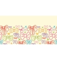 Colorful bows horizontal seamless pattern vector