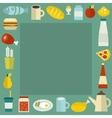 Food frame vector