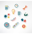 Set of colorful business icons made in modern flat vector