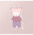 Cute cat clothing vector
