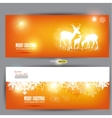 Elegant christmas banners with deers with p vector