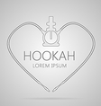 Outline abstract of hookah vector