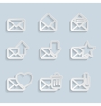 Paper envelopes icons vector