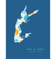Blue and yellow flowersilhouettes jumping vector