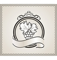 Retro label for packing wine vector