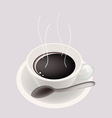 Smoking hot coffee background vector
