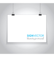 Paper sign vector