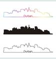 Durban skyline linear style with rainbow vector