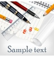 Stationery for school vector