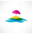 Abstract beach holiday icon vector