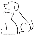 Dog ant cat icon vector