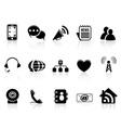 Black social media icons set vector