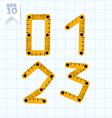 Measuring folding ruler flat abc vector