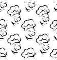 Cartoon chef character seamless pattern vector