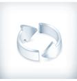 White arrows icon vector