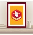 Designer poster in frame vector