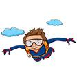 Sky diving vector