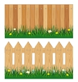 Two fences from tree vector