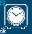 3d square stylized wall clock vector