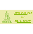 Retro merry christmas and happy new year card vector