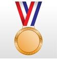 Bronze medal winners on the tape vector