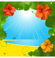 Tropical beach scene vector