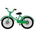 Small green bike vector