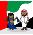 Welcome to arab emirates people vector