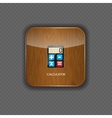 Calculator wood application icons vector