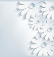Stylish creative abstract background 3d flower vector
