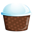 A cupcake container vector