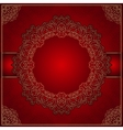 Elegant red background with gold ornament vector