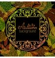 Vintage autumn background vector