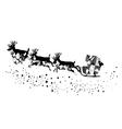 Santa stars mosaic vector