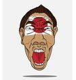 Football fan from japan vector