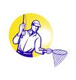 Fly fisherman vector