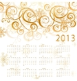 2013 red calendar whith gold vector