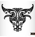 Zodiac signs black and white - taurus vector