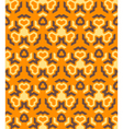 Abstract geometric yellow orange brown seamless vector