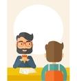 Job interview vector