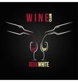 Wine glass bottle concept menu vector