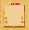 Grunge barbecue party invitation vector