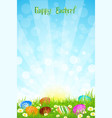 Beautiful easter background vector