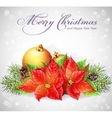 Greeting card with christmas and new year tree vector
